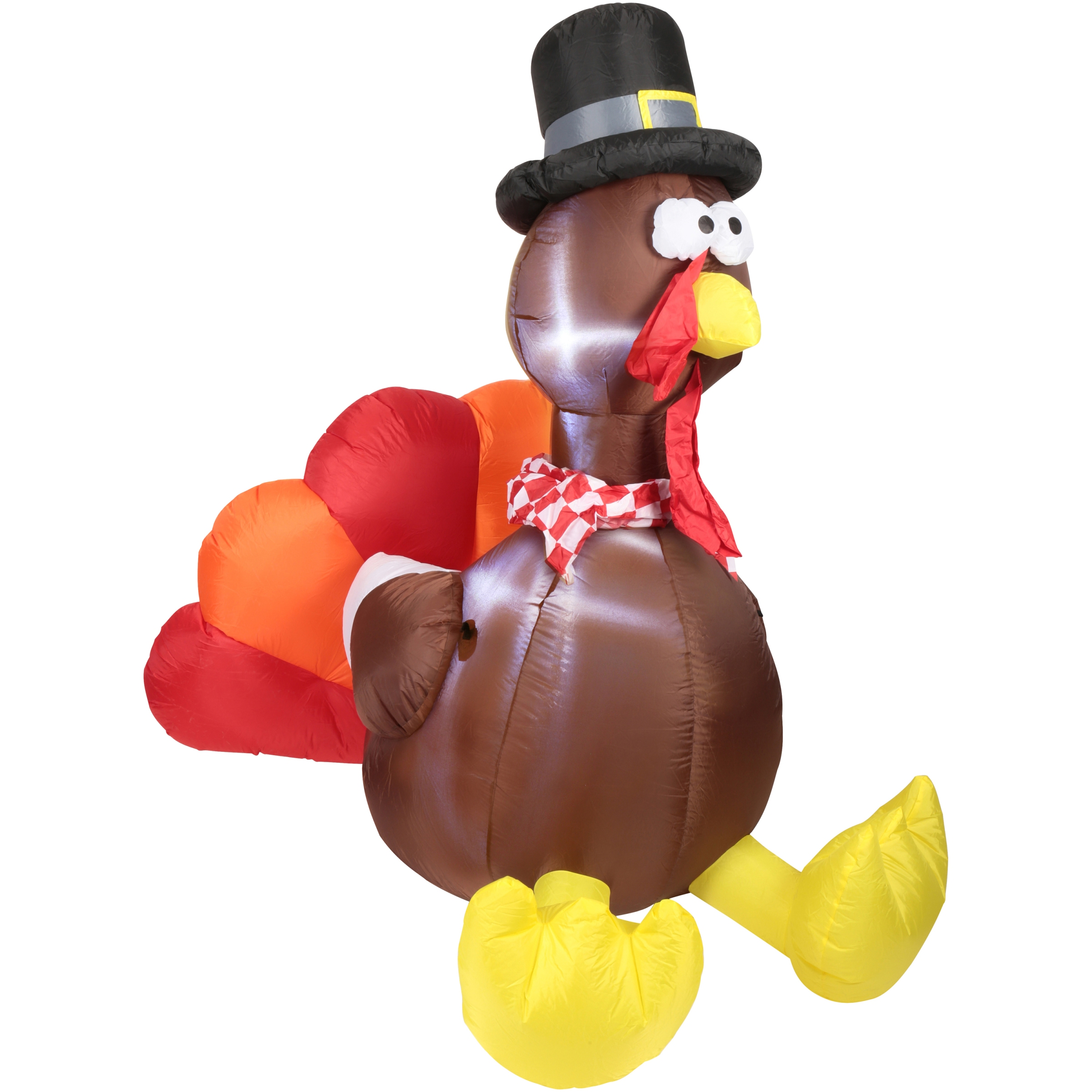 Way to Celebrate! Airblown® Inflatable 6 ft. Turkey Decoration Set 8 pc Box