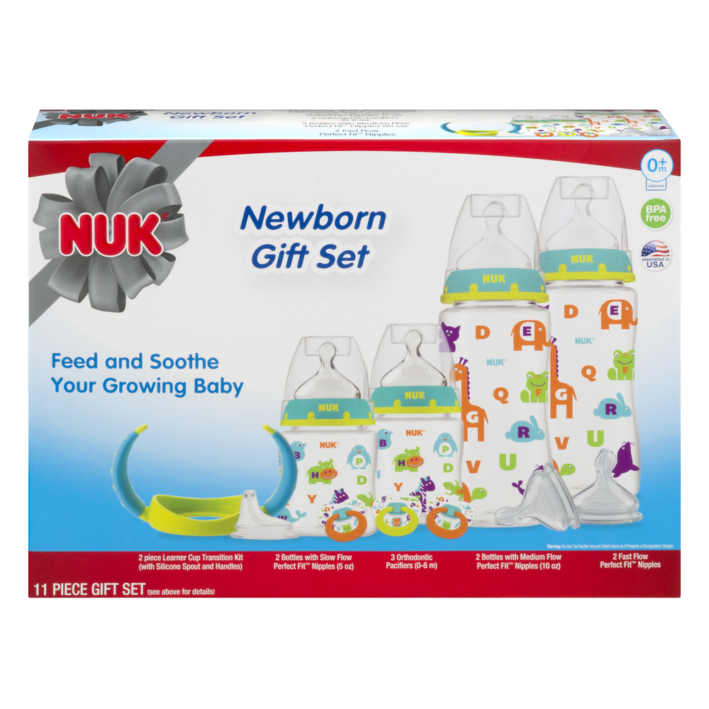 Nuk Newborn Gift Set  0+m - 11 PC, 11.0 PIECE(S)