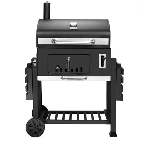 Black Deluxe Cooking System (Royal Gourmet CD2030 Deluxe 30-Inch Charcoal Grill, 750 Square Inches, 6 Adjustable Heights, Backyard Patio BBQ Outdoor Cooking)