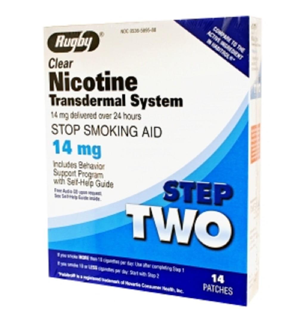 Rugby Nicotine Tds Patch 14Mg Nicotine-14 Mg/24Hr  14 Ct Upc 305365895880
