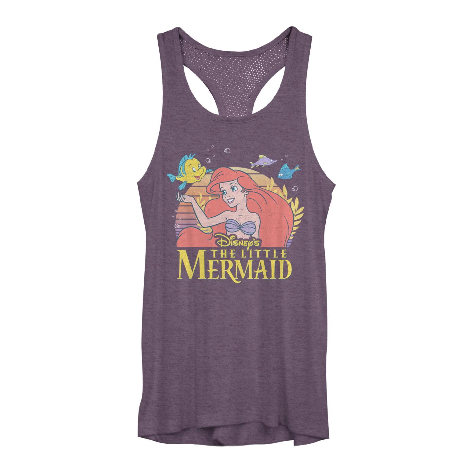 The Little Mermaid Juniors' Ariel Classic Mesh Racerback Tank