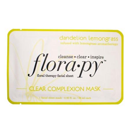 Florapy Clear Complexion Sheet Mask, Dandelion Lemongrass