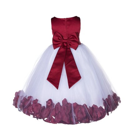 Ekidsbridal Rose Petals Tulle Flower Girl Dress Wedding Pageant Toddler Easter Recital 167T apple size 6 (Flower Girl Dresses Tulle)