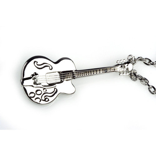 Noteables Guitar Necklace in Silver