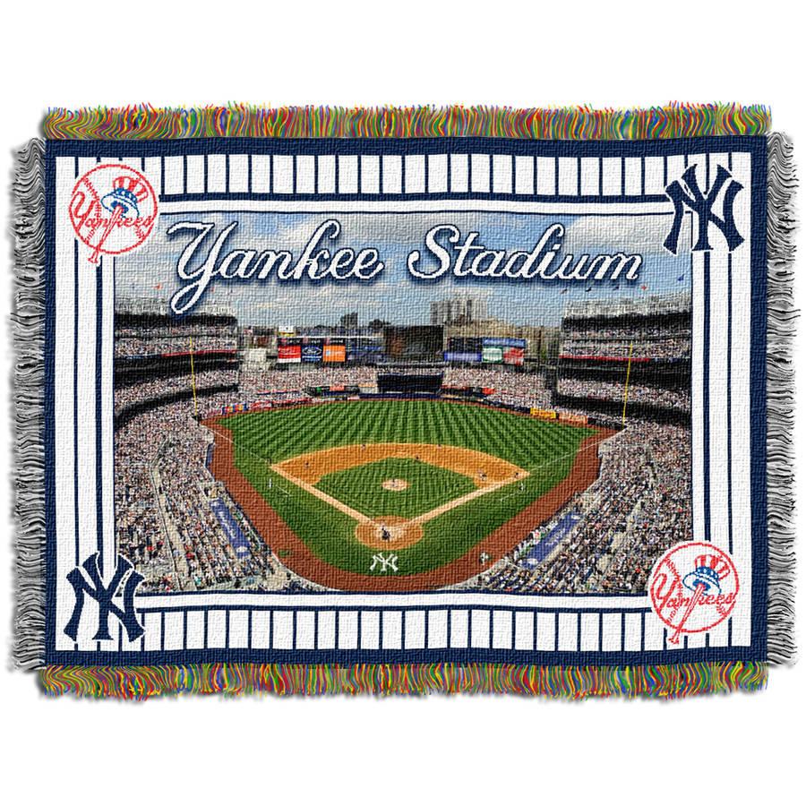 """MLB 48"""" x 60"""" Stadium Series Tapestry Throw, New York Yankees Stadium"""