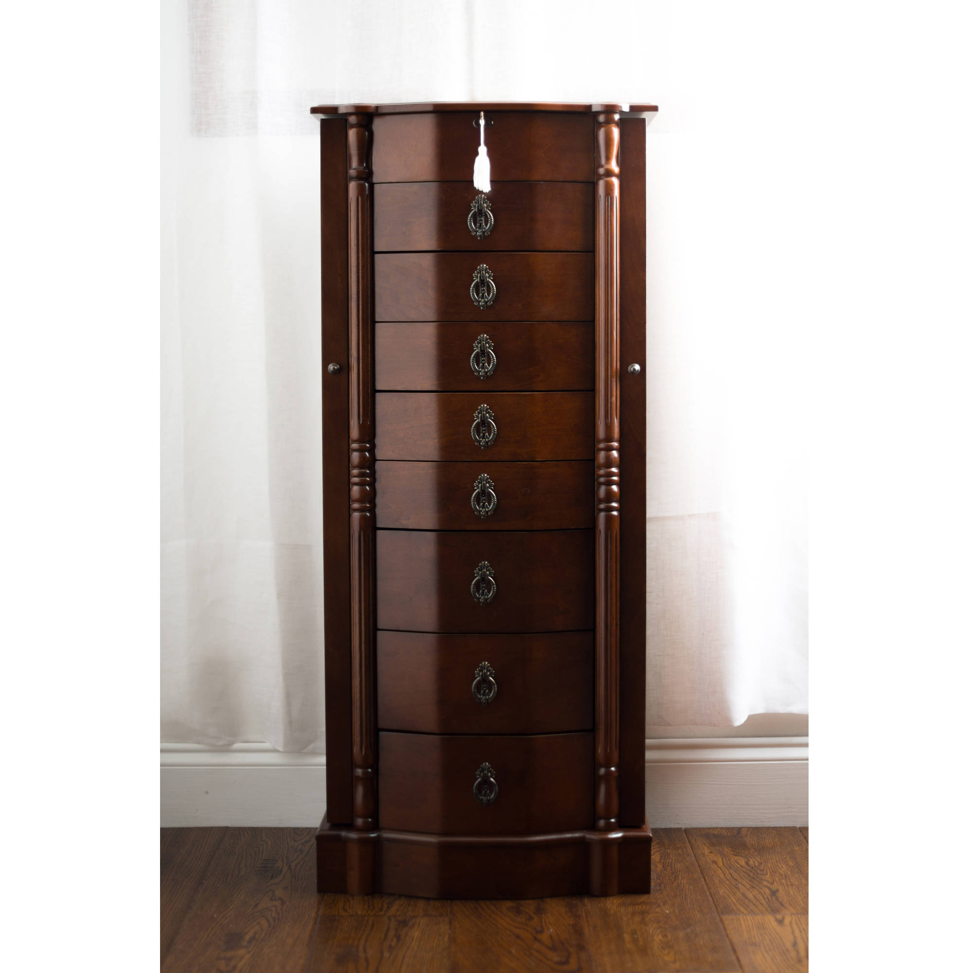 Hives & Honey Robyn Standing Jewelry Armoire - Walnut