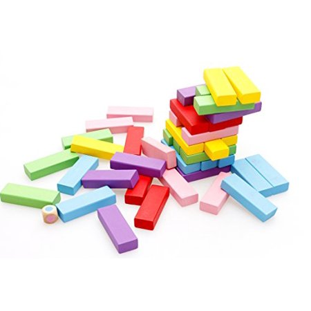 Lewo Wooden Stacking Board Games Building Blocks for Kids - 48 Pieces - image 2 of 4
