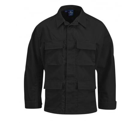 Propper BDU 4-Pocket Coat, 100% Cotton Ripstop, Large-Regular, Black