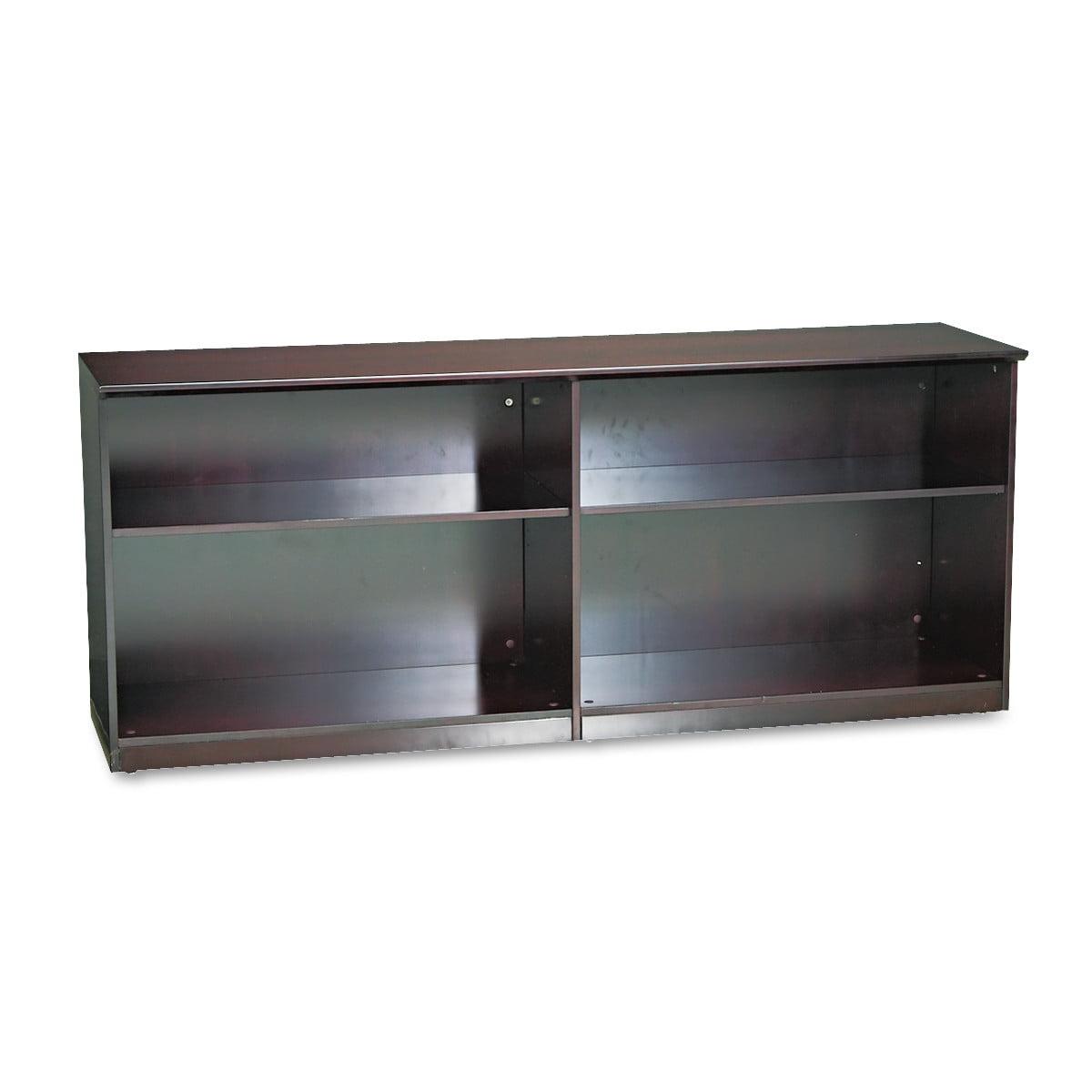 Mayline Veneer Low Wall Cabinet without Doors, 72w x 19d ...