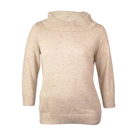 Charter Club Women's Cowl Neck Marled Sweater