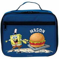 Personalized SpongeBob SquarePants Blue Kids Lunch Box
