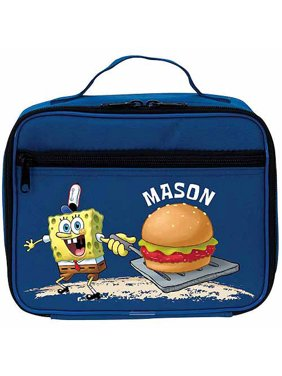 Personalized SpongeBob SquarePants Blue Kids Lunch Box