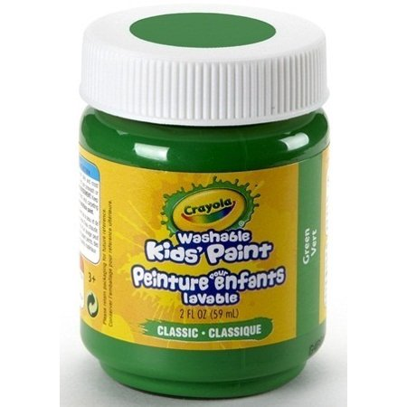Crayola Washable Kids' Paint, Green, 2 Oz Bottle - Green Crayola