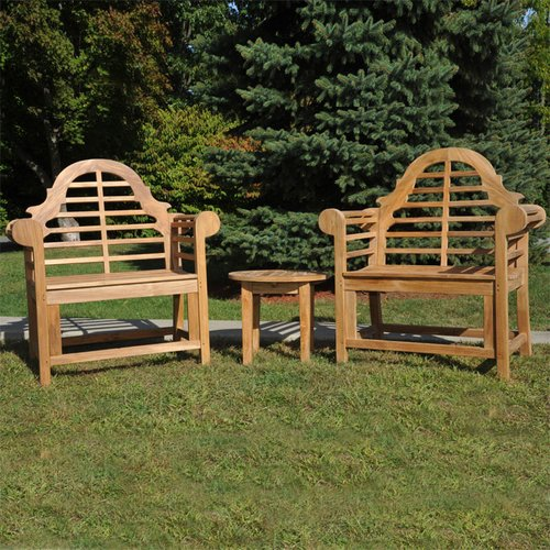 Regal Teak Lutyens Teak Indoor/Outdoor 3 Piece Lounge Sea...