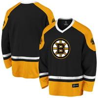 Men's Fanatics Branded Black/Gold Boston Bruins Rival Blue Line Long Sleeve Jersey