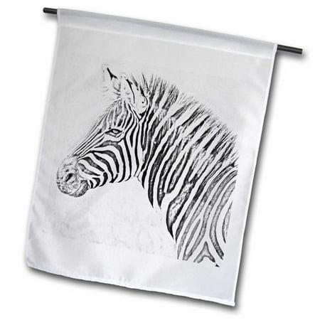 3dRose Zebra Digital Art Pencils Polyester 1'6'' x 1' Garden Flag