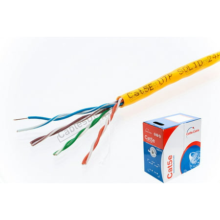 1000ft    CAT5e    UTP    Solid    350Mhz Ether LAN Cable 24AWG
