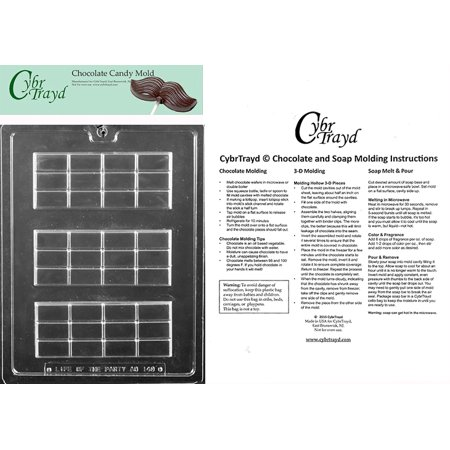 Chocolate Candy Bar Molds (Break Apart Bar Chocolate Candy Mold with Exclusive Cybrtrayd Copyrighted Molding Instructions)