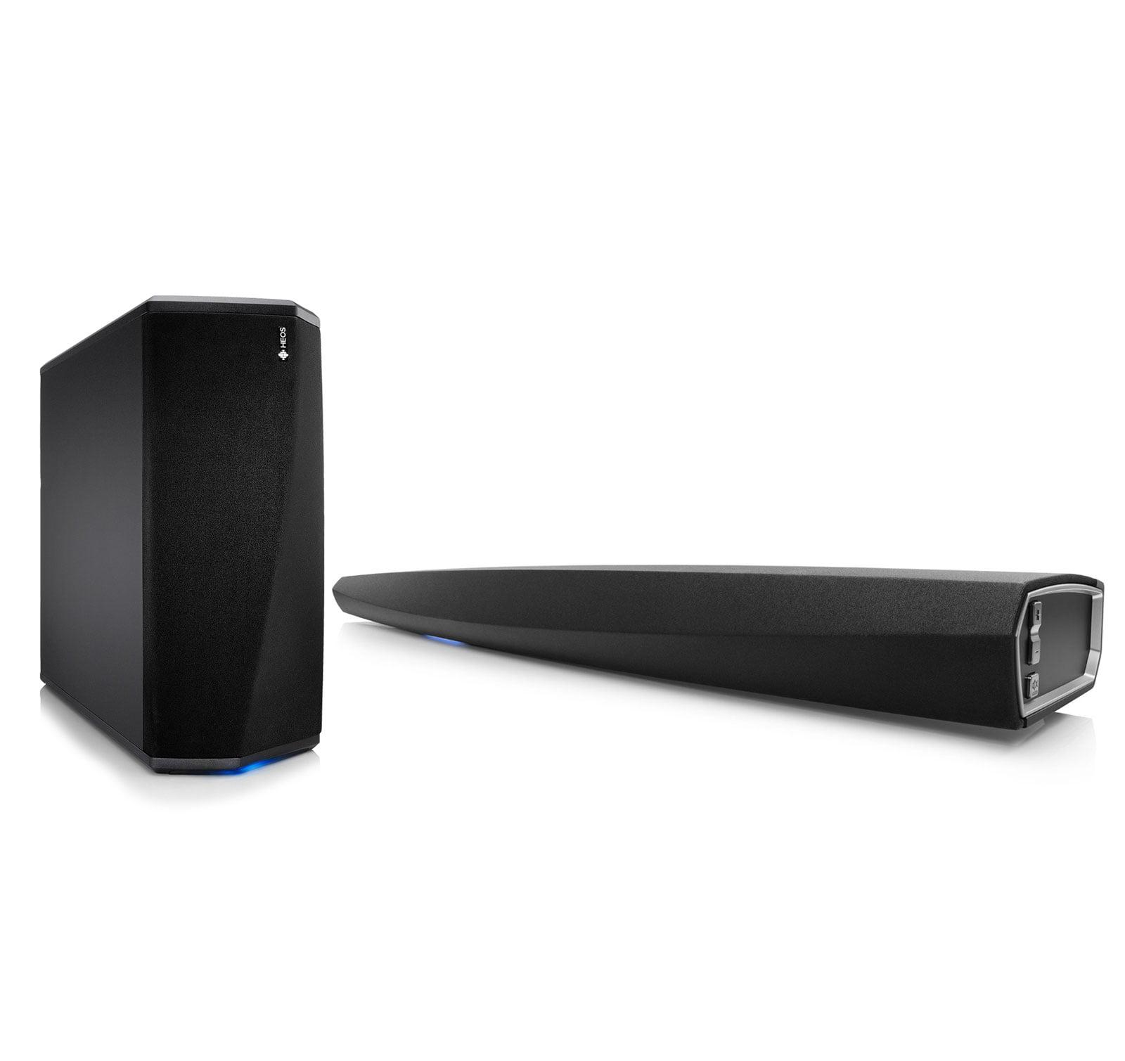 Denon HEOS BAR Soundbar with WiFi & Denon HEOS SUBWOOFER Wireless Subwoofer Kit by Denon