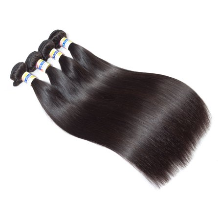 YYONG Hair Indian Straight Human Virgin Hair Product Straight 4 Bundles Natural Color Hair ,