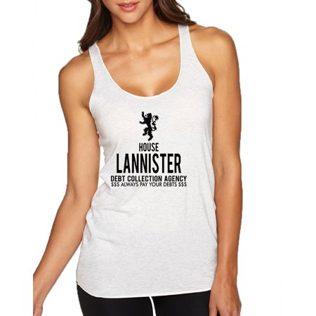 Allntrends Women's Tank Top House Lannister Debt Collection Agency Fun
