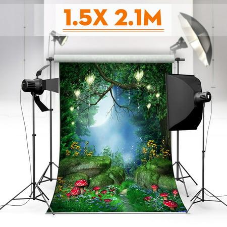 5x7ft Vinyl Photography Background Backdrop Fairytale World Green Forest Theme Studio Photo Prop - Safari Themed Backdrop