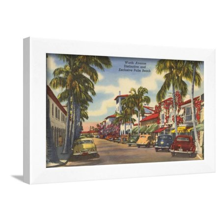 Worth Avenue, Palm Beach, Florida Framed Print Wall (Palm Beach Florida Worth Avenue)