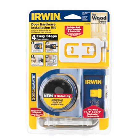 Optional Installation Kit (Irwin 2-3/4 in. L Carbon Steel Door Lock Installation Kit 1 pc.)