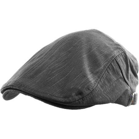 Solid Cotton Gatsby Cap Mens Denim Hat Golf Driving Summer Cabbie Newsboy Blue Adjustable Golf Hat