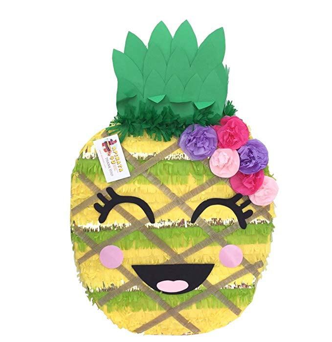 APINATA4U Cute Pineapple Pinata with Flowers