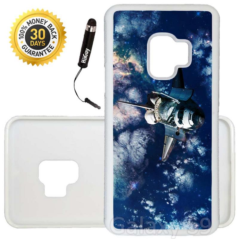 Custom Galaxy S9 Case (Space Shuttle Earth) Edge-to-Edge Rubber White Cover Ultra Slim | Lightweight | Includes Stylus Pen by Innosub