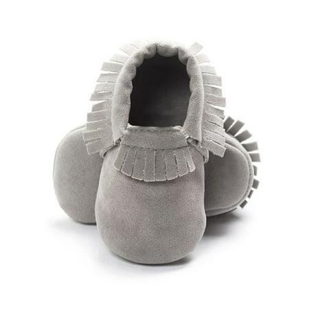 Fringe Baby Shoes Suede Leather Newborn Boys Girls Soft Sole Non-slip Footwear Crib First Walkers First Feet Footwear