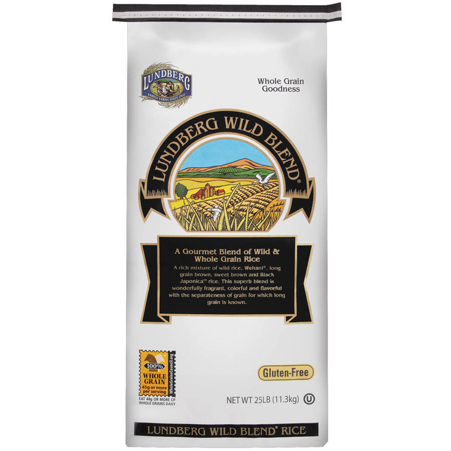 Lundberg Wild Blend Wild & Whole Grain Rice, 25 lbs