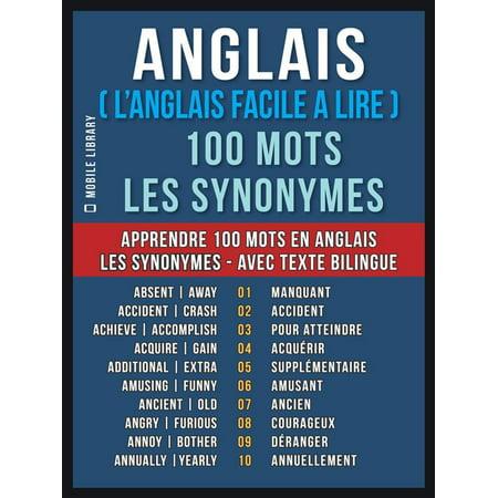 Anglais ( L'Anglais Facile a Lire ) 100 Mots - Les Synonymes - eBook](Nose Synonym)