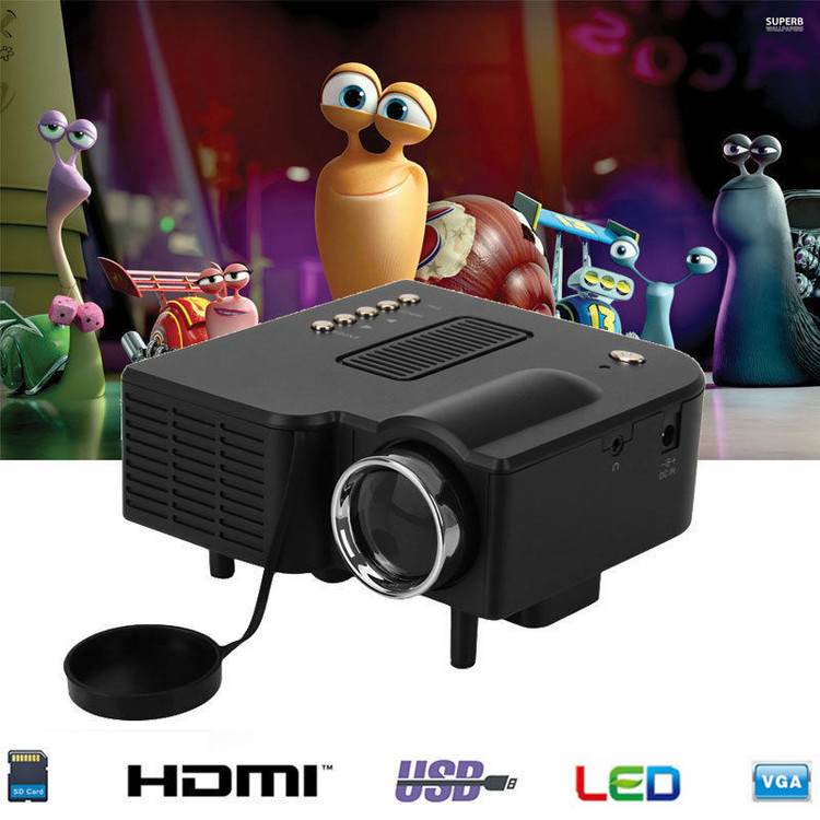Multimedia Home Theater Mini Projector for Movies on Sale Projector with HDMI, AV, VGA Inputs Home 1080p... by Cimiva