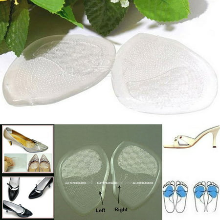 - Gel Silicone Foot Half Sole Insoles Shoes Care Cushion Pad Insole Comfy 1 Pair