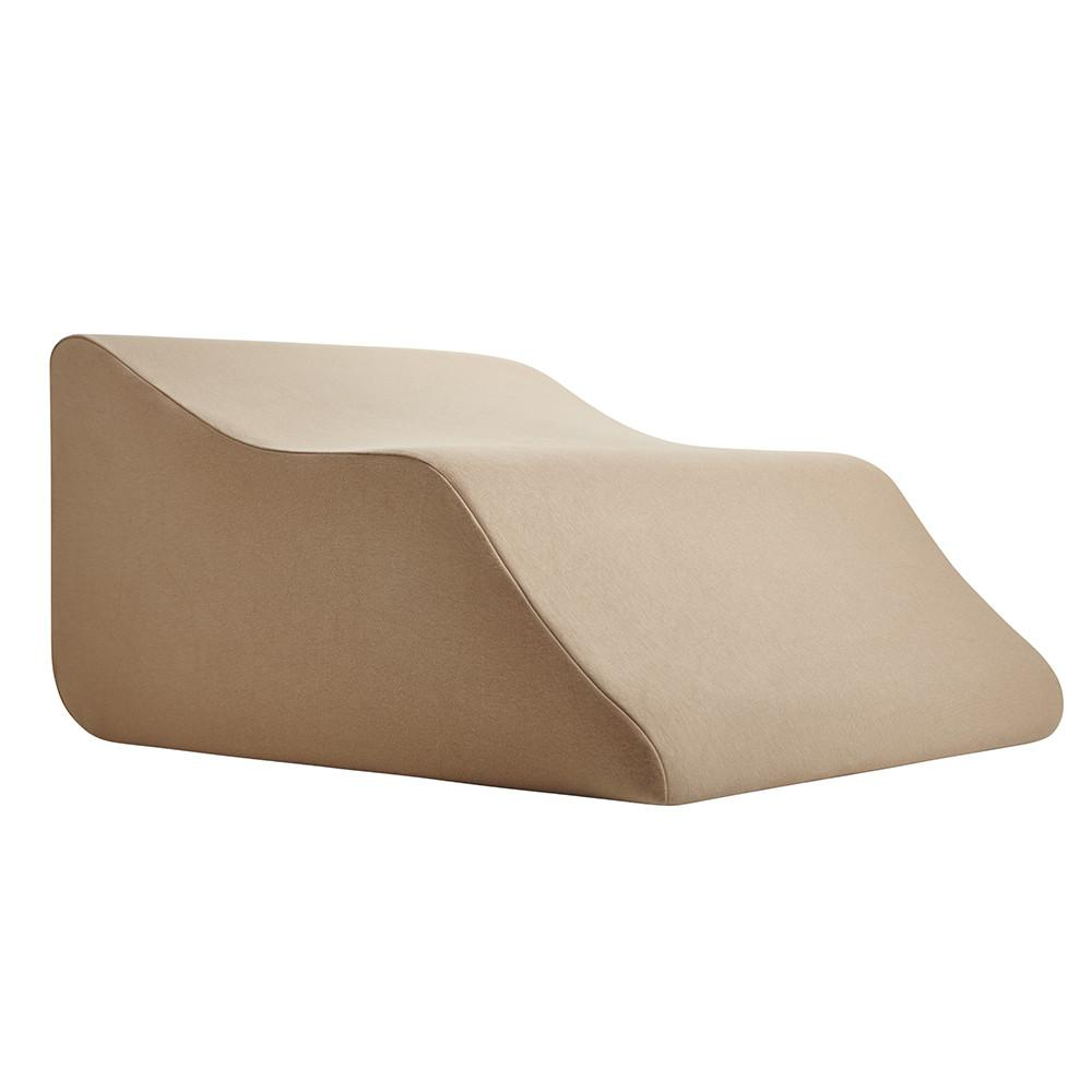 Lounge Doctor Elevating Leg Rest Pillow Wedge w Cooling Gel Memory Foam and Blue Cover -Foot Pillow-Leg Support-leg swelling-vein issues-lymphedema-restless legs-Pregnancy
