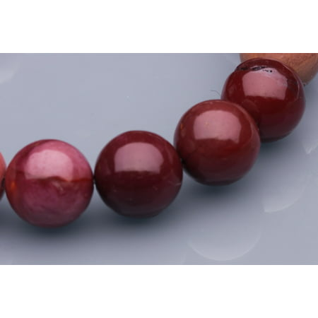 Mookaite Round Beads (Round - Shaped Mookite Beads Semi Precious Gemstones Size: 12x12mm Crystal Energy Stone Healing Power for Jewelry)