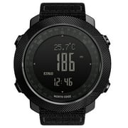 NORTH EDGE Men's Outdoor Digital Sports Watch with Altimeter Barometer Compass World Time 50M Waterproof Pedometer Wrist