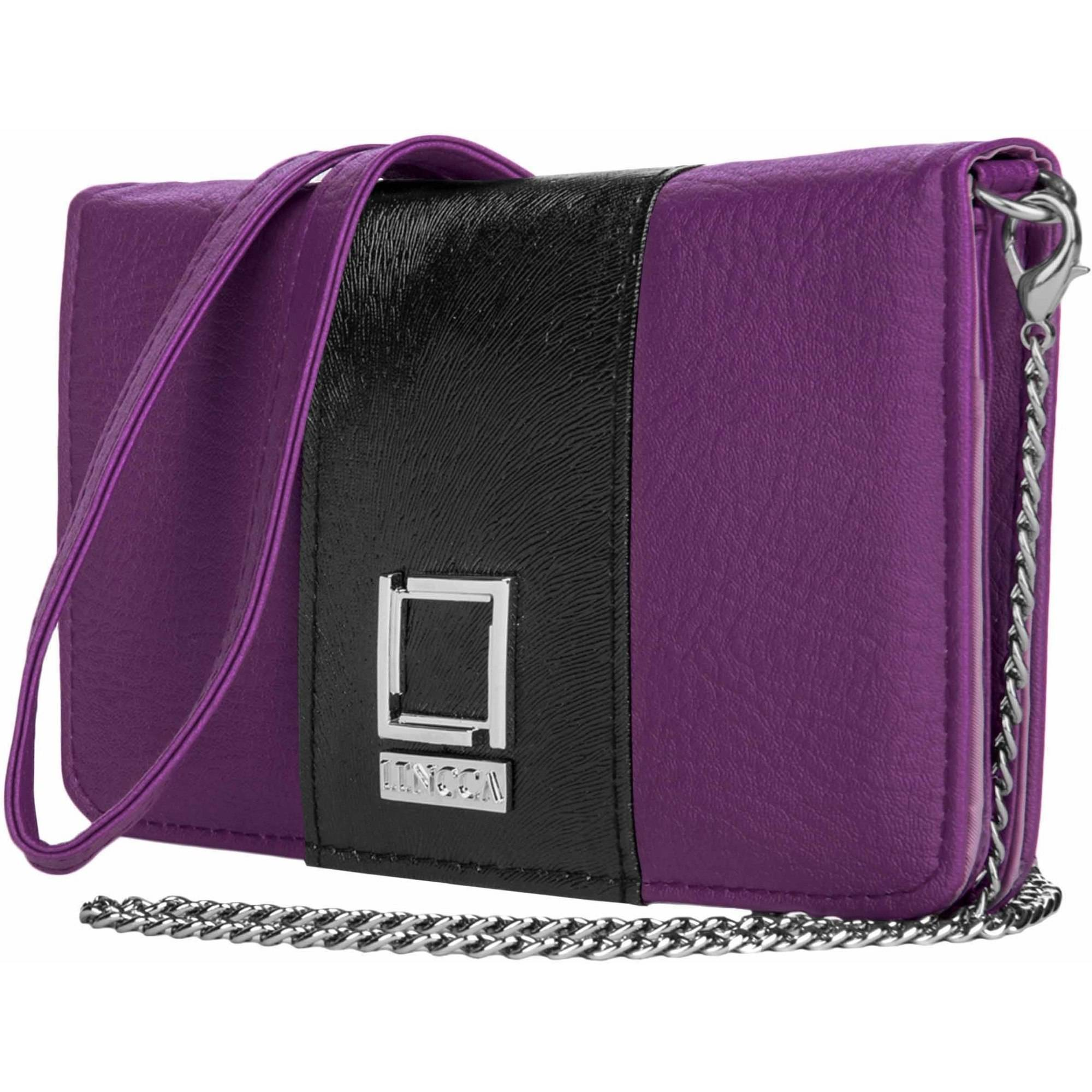 "Lencca Kyma Cell Phone Wallet Case with Attachable Shoulder Strap for Android Phones 5""-6"""