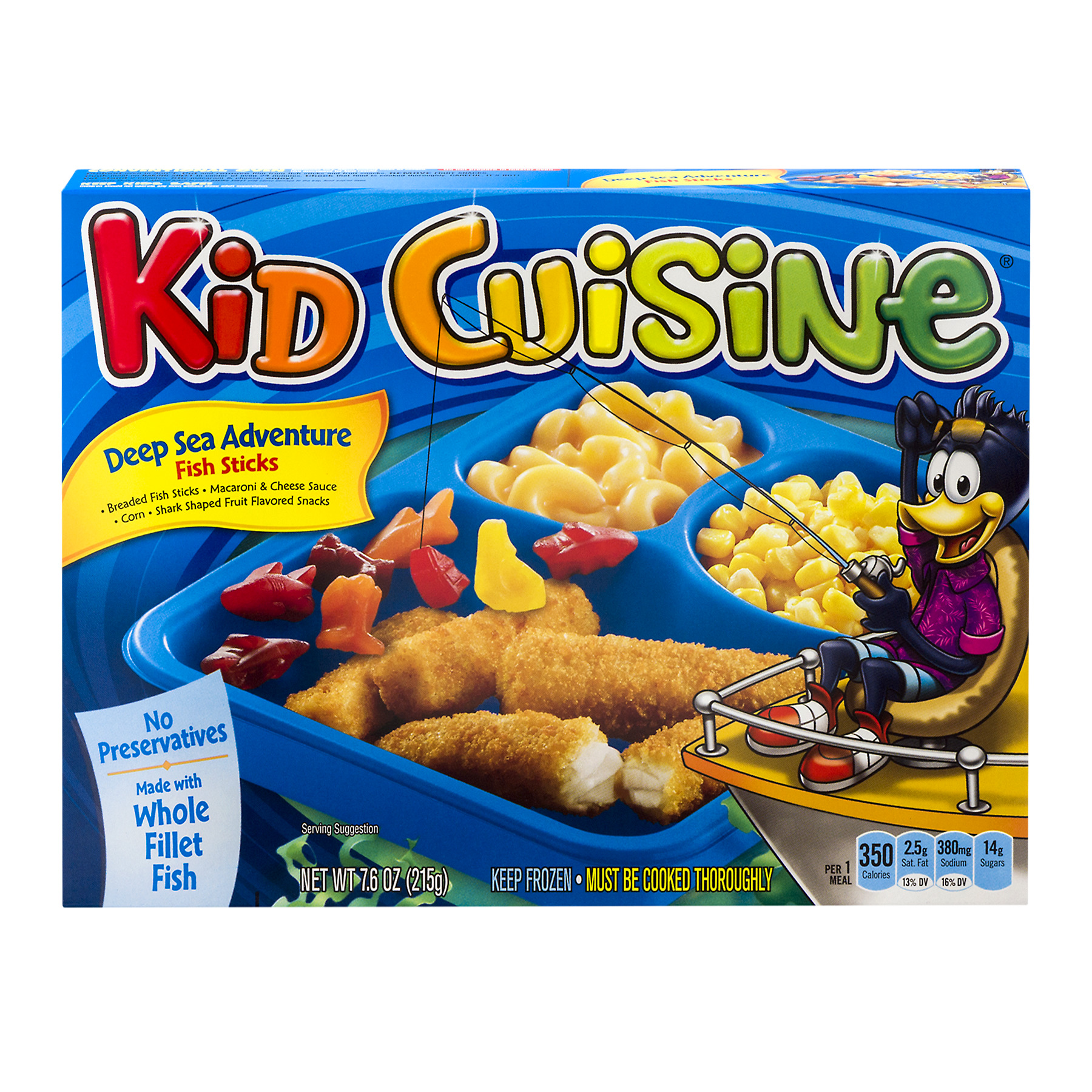 Kid Cuisine Deep Sea Adventure Fish Sticks Frozen Dinner 7 6 Oz Box