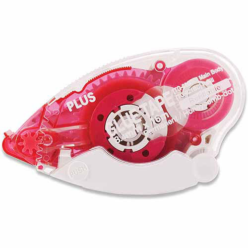 "Plus Corporation Plus Glue Tape Dispenser, .33"" x 52.5', Honeycomb, Permanent"