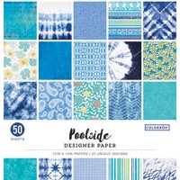 "Colorbok 12"" Pool Side Designer Paper Pad, 50 Piece"