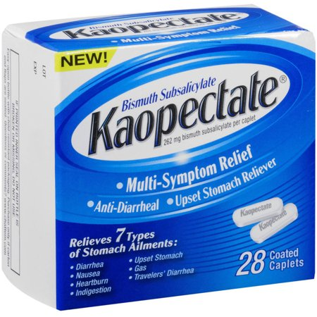 Kaopectate Multi-Symptom Relief Anti-Diarrheal Upset Stomach Reliever Caplets, 28 CT (Pack of 6)