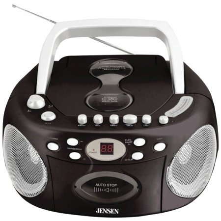 Jensen CD540 Portable Stereo Compact Disc Cassette Recorder with AM FM Radio by Jensen
