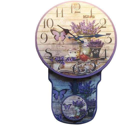 Butterfly Flower Clock with Moving Pendulum by Generic