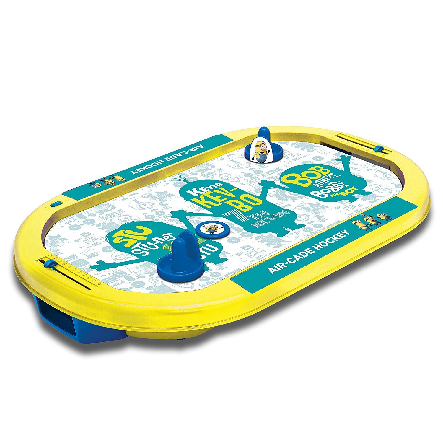 Air-Cade Hockey Game, �Electronic air flow system allows the puck to float on a cushion of air By Minions by
