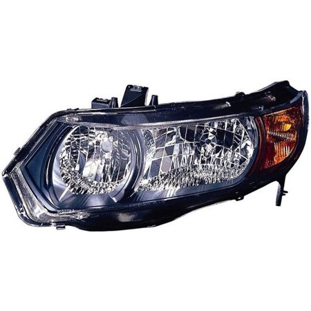 Go-Parts OE Replacement for 2006 - 2007 Honda Civic Front Headlight Assembly Housing / Lens / Cover - Left (Driver) Side - (2 Door; Coupe) 33151-SVA-A01 HO2518111 Replacement For Honda (2007 Honda Civic Ex 2 Door Coupe)