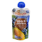 Happy Tot Toddler Food - Organic - Fiber and Protein - Stage 4 - Pear Blueberry and Spinach - 4 oz