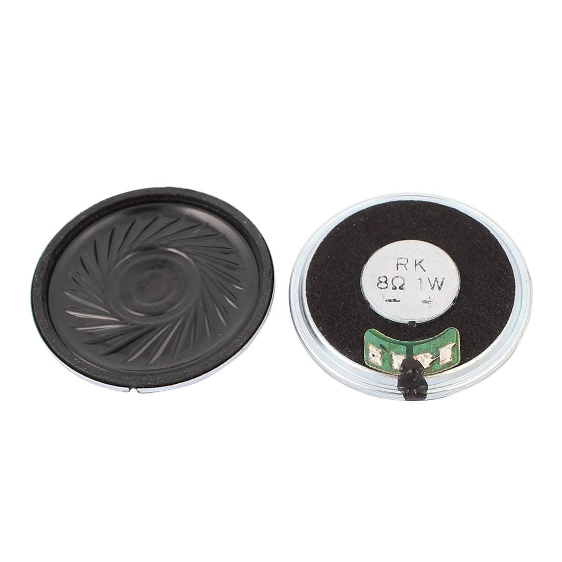 5Pcs 40mm Dia 8 Ohm 1W Metal Shell Internal Mini Speakers Magnetic Loudspeaker - image 1 of 2